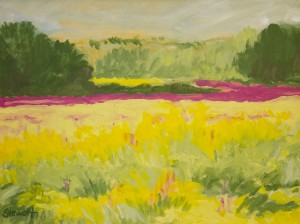 AUGUSTA CROCKER STEWART. A Time for Spreading Purples, III Oil on board; 12 x 16 inches; $800