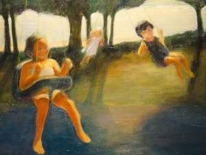 JEANNETTE ATKINSON. Dream Swings Oil; 16 x 20 inches; $350