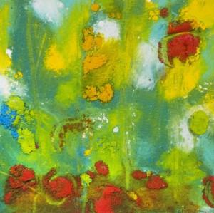 ANNIE LeMONDE. Garden Joy Oil on Arches oil paper; 4.5 x 4.5 inches; $300