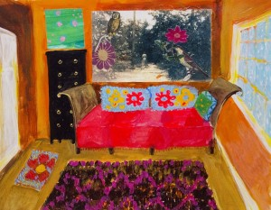 ELIZABETH SNELLING. Oliver's Room Gouache on bristol; 11 x 13.5 inches; $500