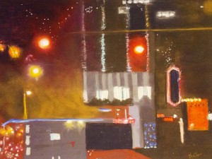 SHEILA BEENHOUWER. Austin, Texas at Night Pastel on paper; 12 x 16 inches; $450
