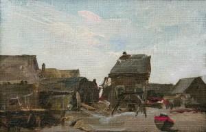 "Elizabeth Wentworth Roberts, ""Fish House Ogunquit,"" 1912"